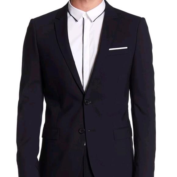 4fe3206487 The Kooples Suits & Blazers | Mens Pocket Square Navy Blazer Pant ...